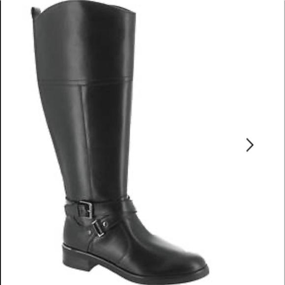Wide Calf Black Leather Boots | Poshmark